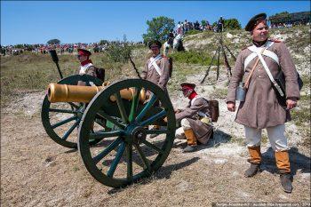Реконструкция Балаклавской битвы 25 октября 1854 года.  июль 2013.